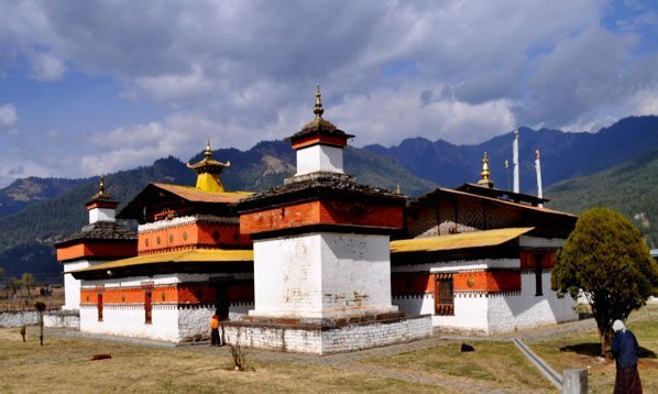 Jambey Ihakhang, in Bhutan. Spelt Jampey or Jambay Lhakhang is one of the 108 temples, built by Tibetan King Songtsen Gampo in 659 AD on a single day.