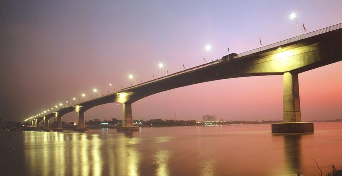 The Friendship Bridge in Laos.