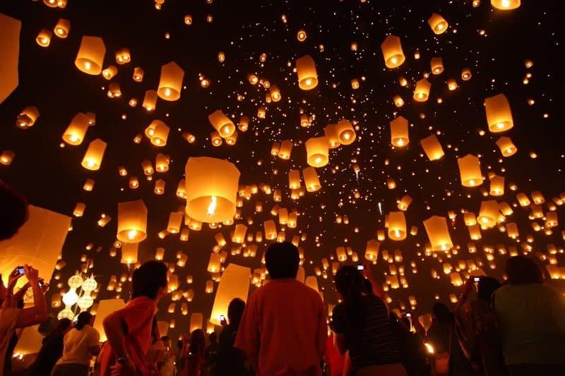 Loi S Lights Thailand Beautiful Kra Festival