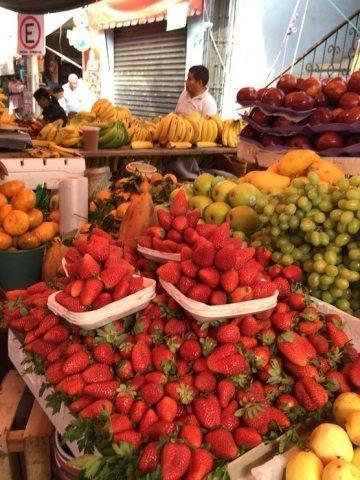 Fresh fruit at Oaxaca Sunday Market, in Oaxaca, Mexico. Mari Gold photos.