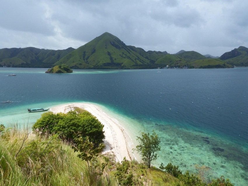 A view of Flores, Indonesia, from a small neighboring island. Leah Alves photos.