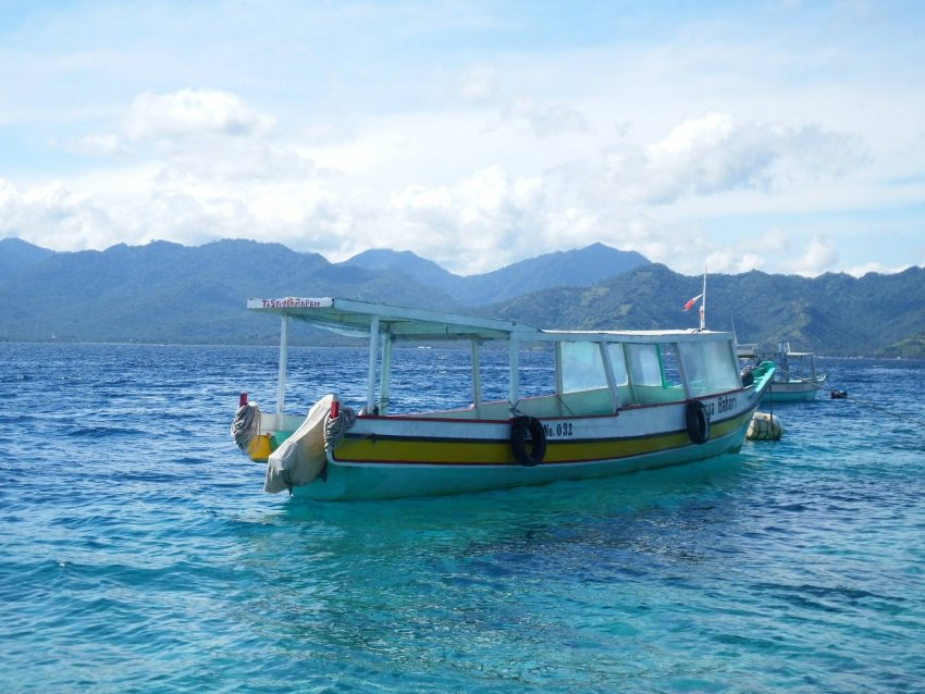 A typical longboat transport on Flores.