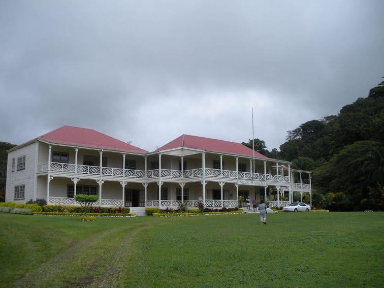 Villa Vailima in Samoa, home of Robert Louis Stevenson.