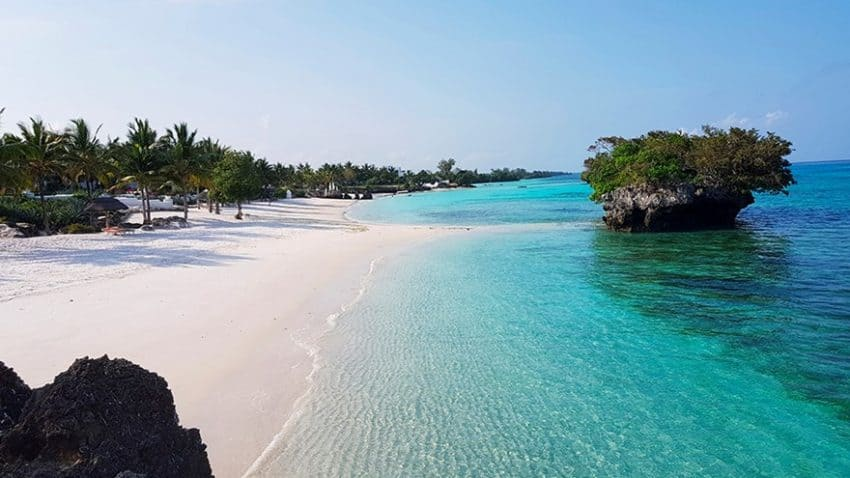 One of Pembas pristine beaches. (Photot courtesy of Constance Hotels)