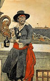 An illustration of Captain Kidd. Try finding his treasure on Misali Island.