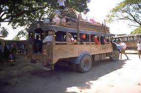 Dala-dalas, one of the cheaper ways to get around the islands.