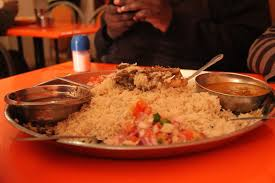 An example of pilau rice, one of the dishes that can be found outside of the main towns reatairants.