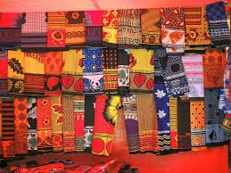 Khangas; the multi-colored multi-faceted cloths can be bought at most booths and shops in Zanzibar