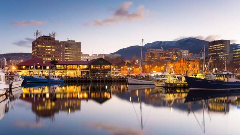 Hobart, the capital city of Tasmania, Australia.
