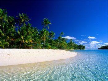 Rarotonga beach.