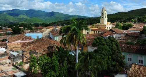 Aerial view of the City of Trinidad in Cuba