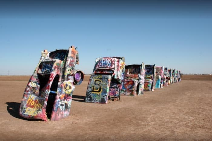 Cadillac Ranch in Amarillo, Texas.