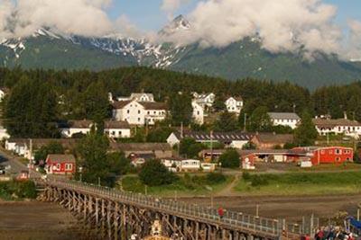 Entrance bridge to Haines, Alaska.