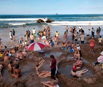 Hot Water Beach, Coromandel Peninsula, North Island, NZ