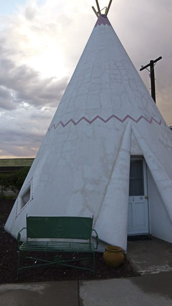 A wigwam where guests can stay
