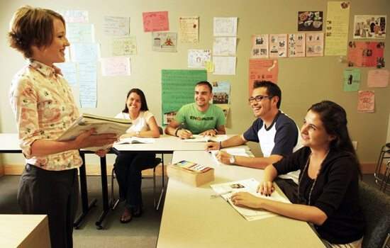 Language Course being taught in Europe