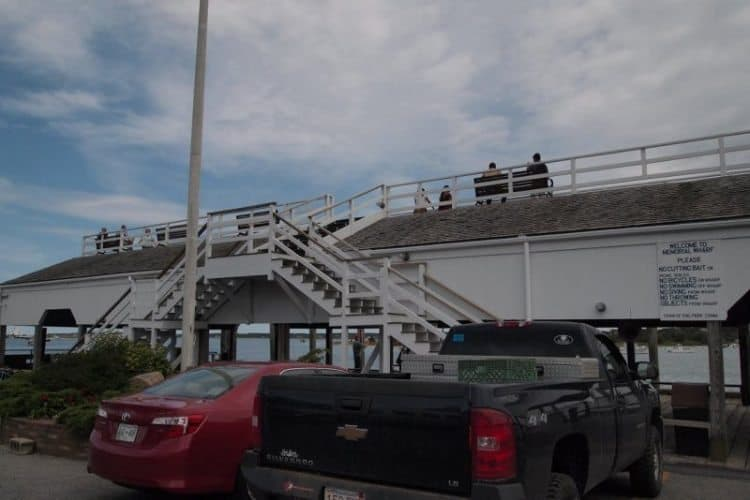 The Town Dock lookout is a fun place to visit in Edgartown, Martha's Vineyard.