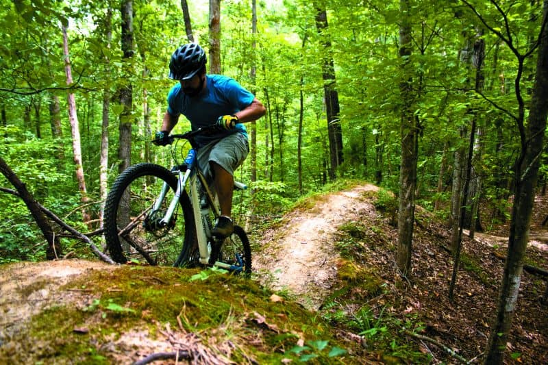 Mountain biking in Richmond VA.