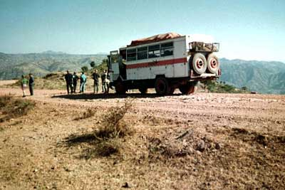 A Dragoman truck, for seeing Ethiopia overland style. Marie Javins photo.