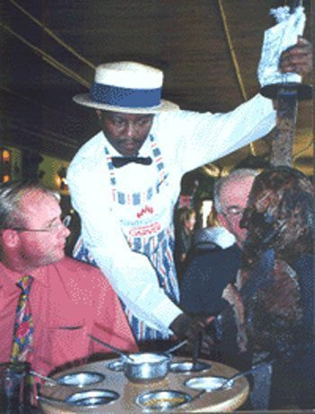South African waiter