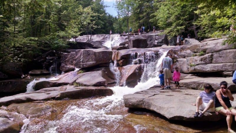 Diana's Baths, in North Conway New Hampshire. lifesouthofboston.com photo.