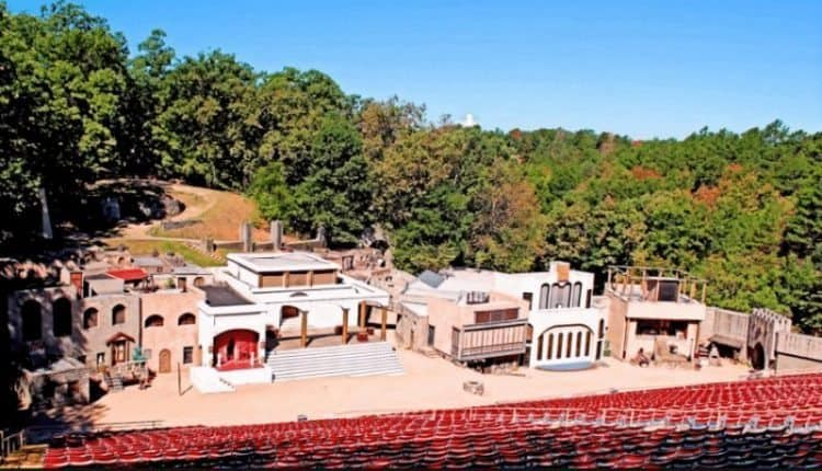 The home in Eureka Springs to yearly live performances of the Great Passion Play in an outdoor amphitheater.