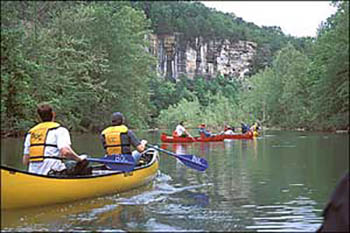 Canoeing the Buffalo River in Arkansas