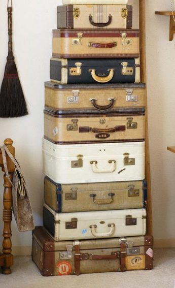 Old fashioned luggage: The more you have the cooler it looks in the stack!