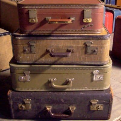 Vintage luggage is a very popular collector's item. Most of these never move again after they are bought.