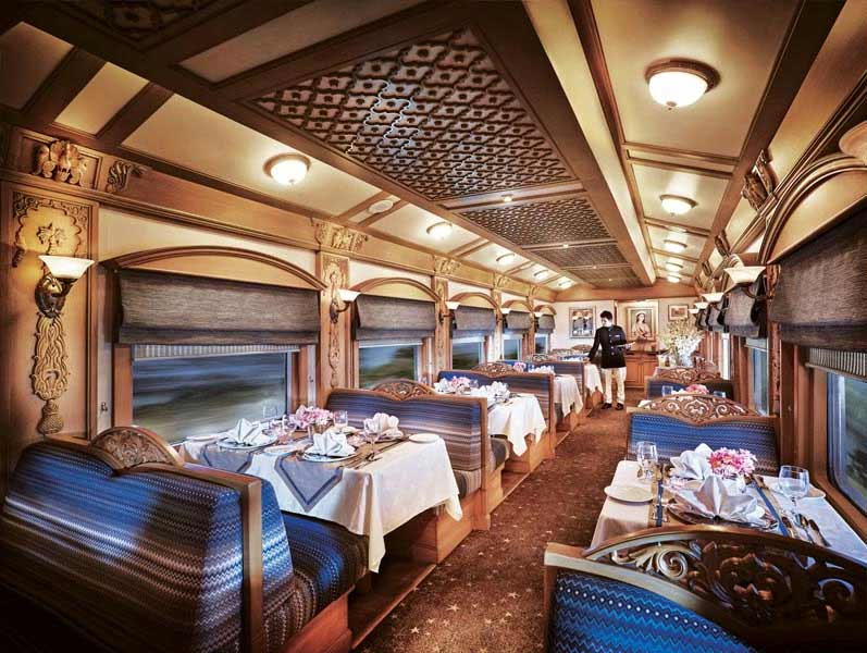 Mealtime is another over the top experience on the Deccan Odyssey.