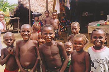 Village kids in Guinea, shot by a Peace Corps volunteer.