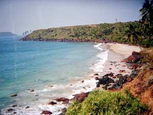 Hansa Beach in Goa, India