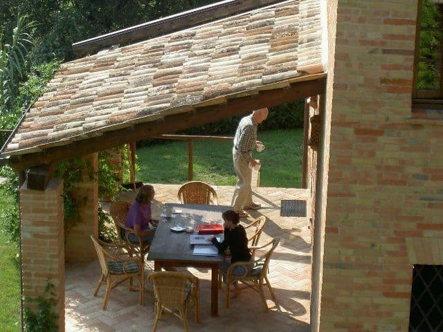 The loggia, or back deck, is where we spent most of our time during our week in Le Marche with my parents.