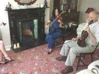 Fiddlers at the Fiddler's Retreat in Loughmore Ireland.