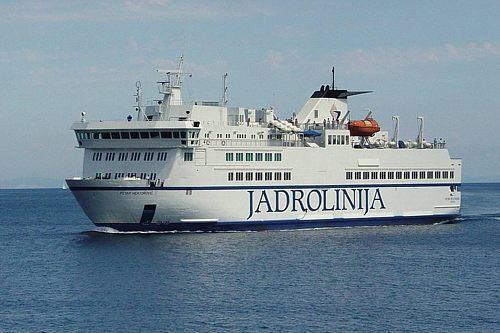 Ferry from Split to Hvar, the Jadrolinija.