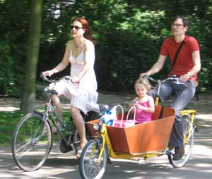 A family bike outing in Holland.