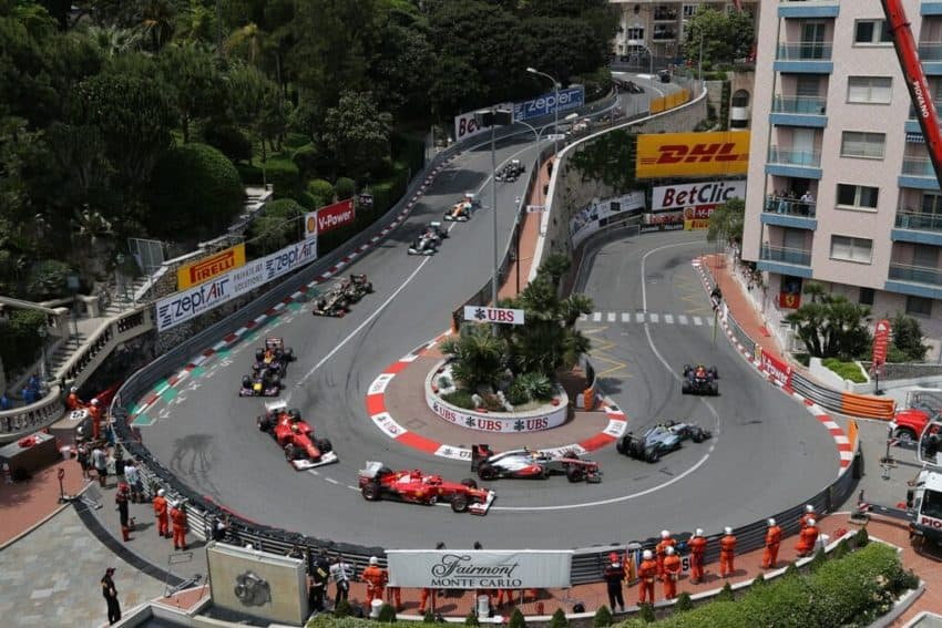 Monaco is famous for its city-wide Formula One race. Fairmont Monte Carlo photo.