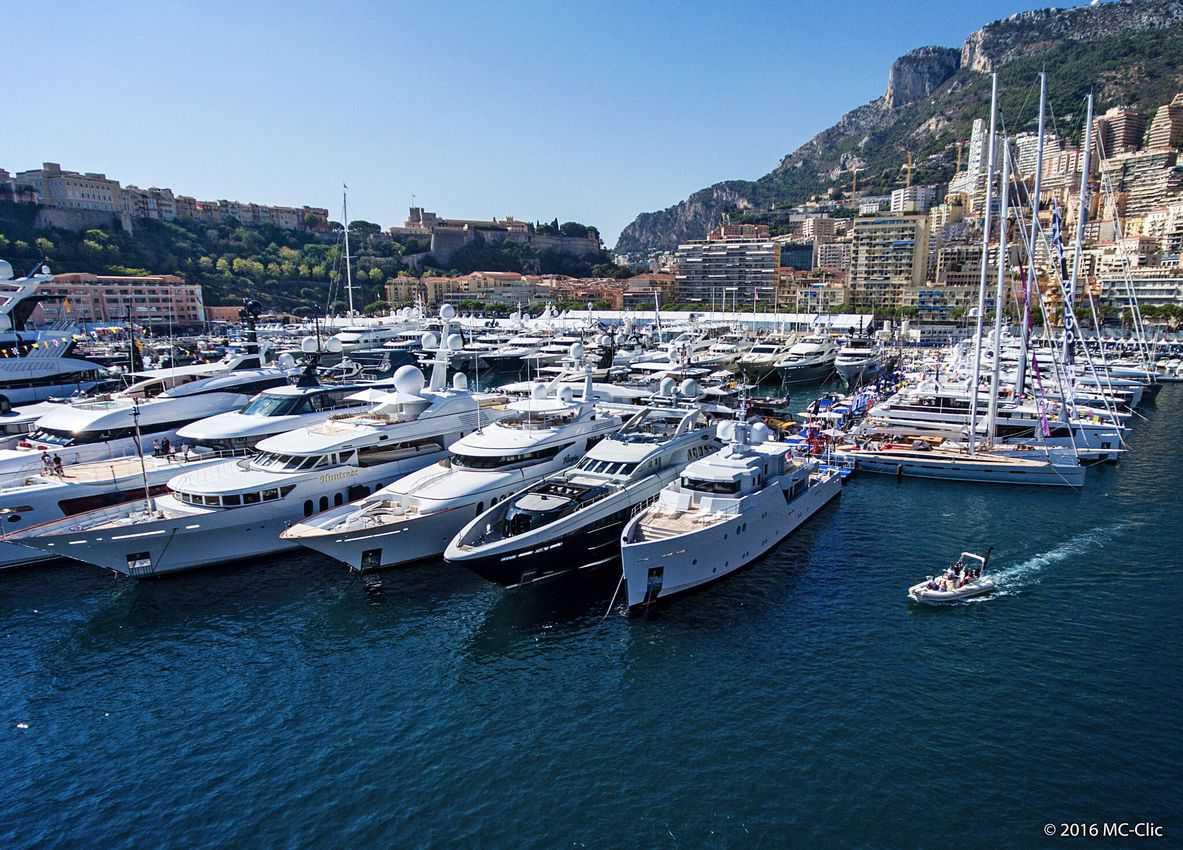 Yacht harbor in Monaco.