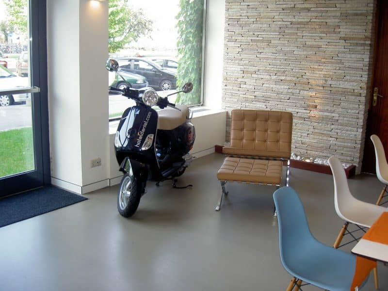 A Vespa for guests to use at the Daniel Hotel in Graz, Austria.