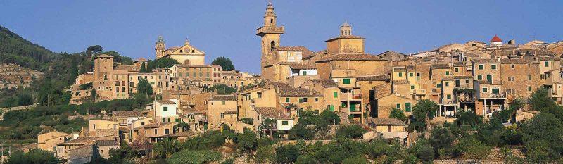 The village of Valdemossa, on the island of Mallorca, Spain. Spain tourism photo.