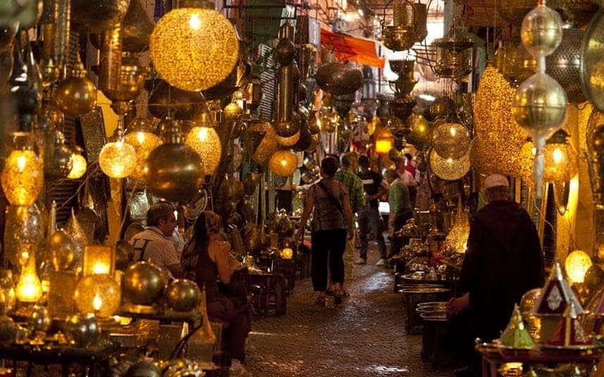 Shopping nightlife in Marrakech.