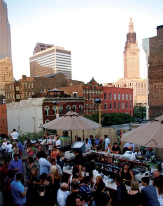 Best Rooftop bar in Cleveland, the Velvet Dog.