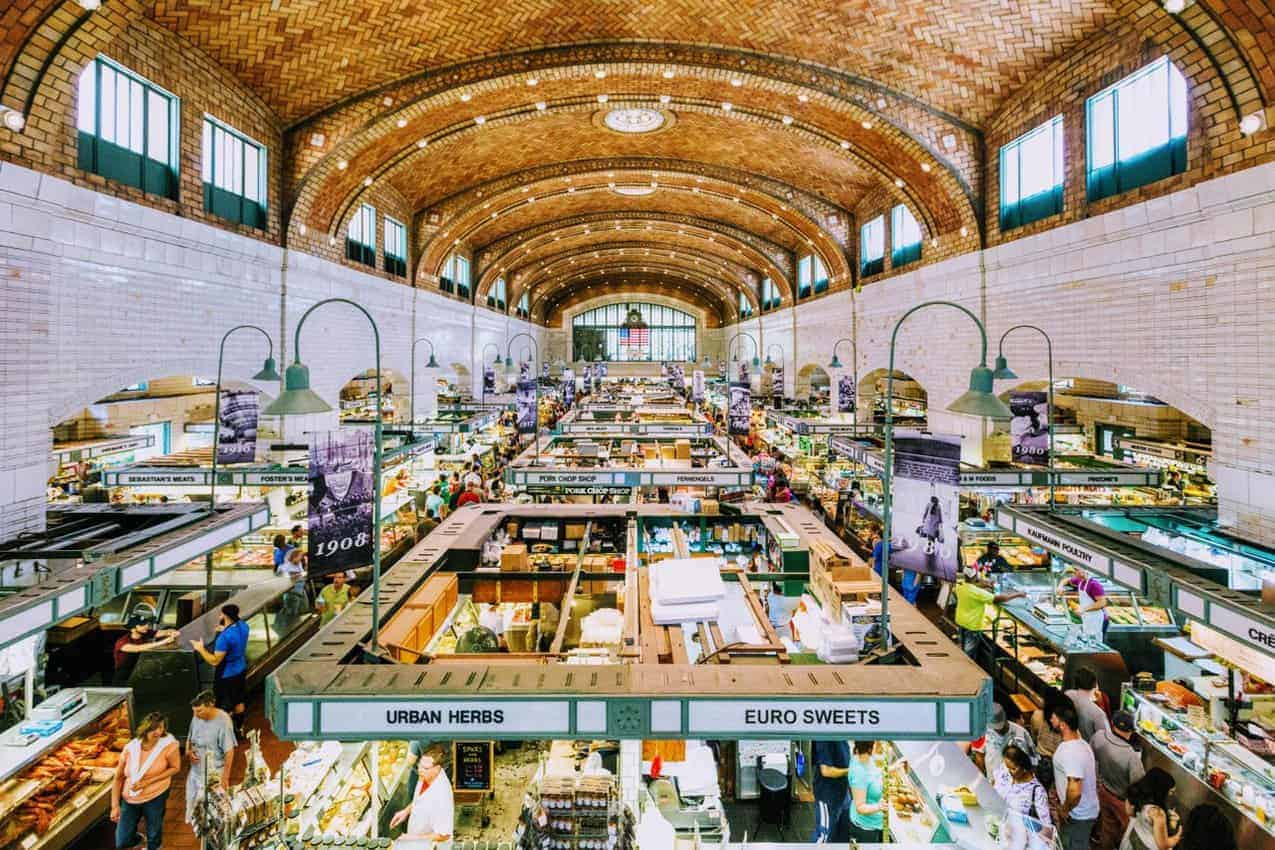 West Side Market in Cleveland: One of the biggest food halls in the US. Destination Cleveland photo.