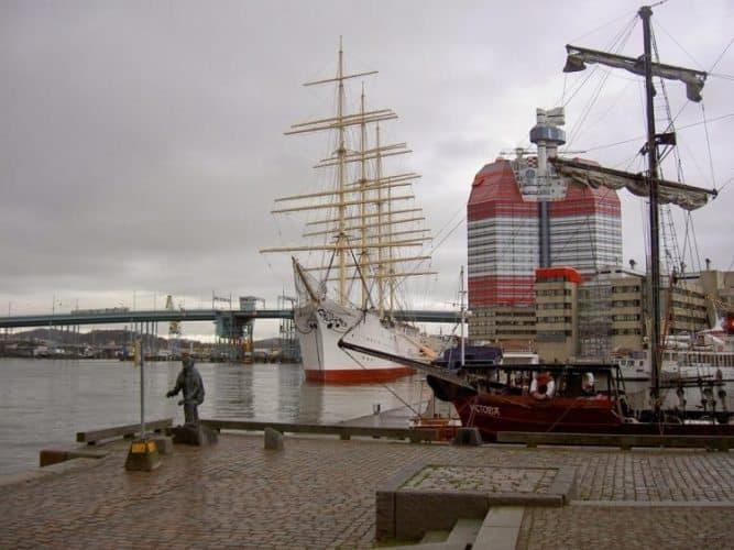 The Viking Barken docked in Gothenburg Sweden.