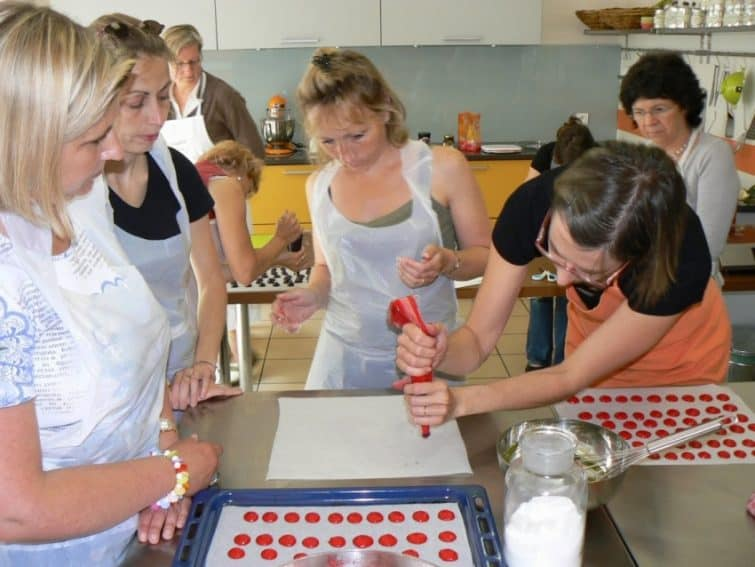 Making macarons in Tours, France.