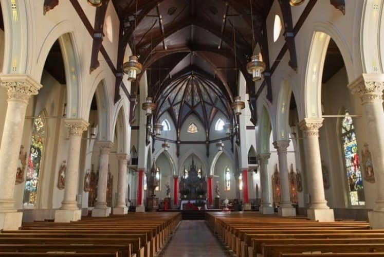 Inside the Church of the Acsension of Our Lord