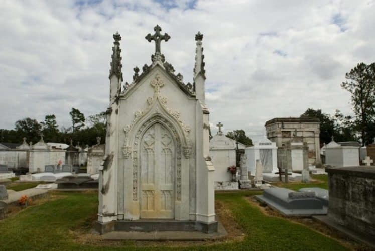 Cemetery at Ascension of Our Lord Catholic Church. Courtesy http://tourascension.com/