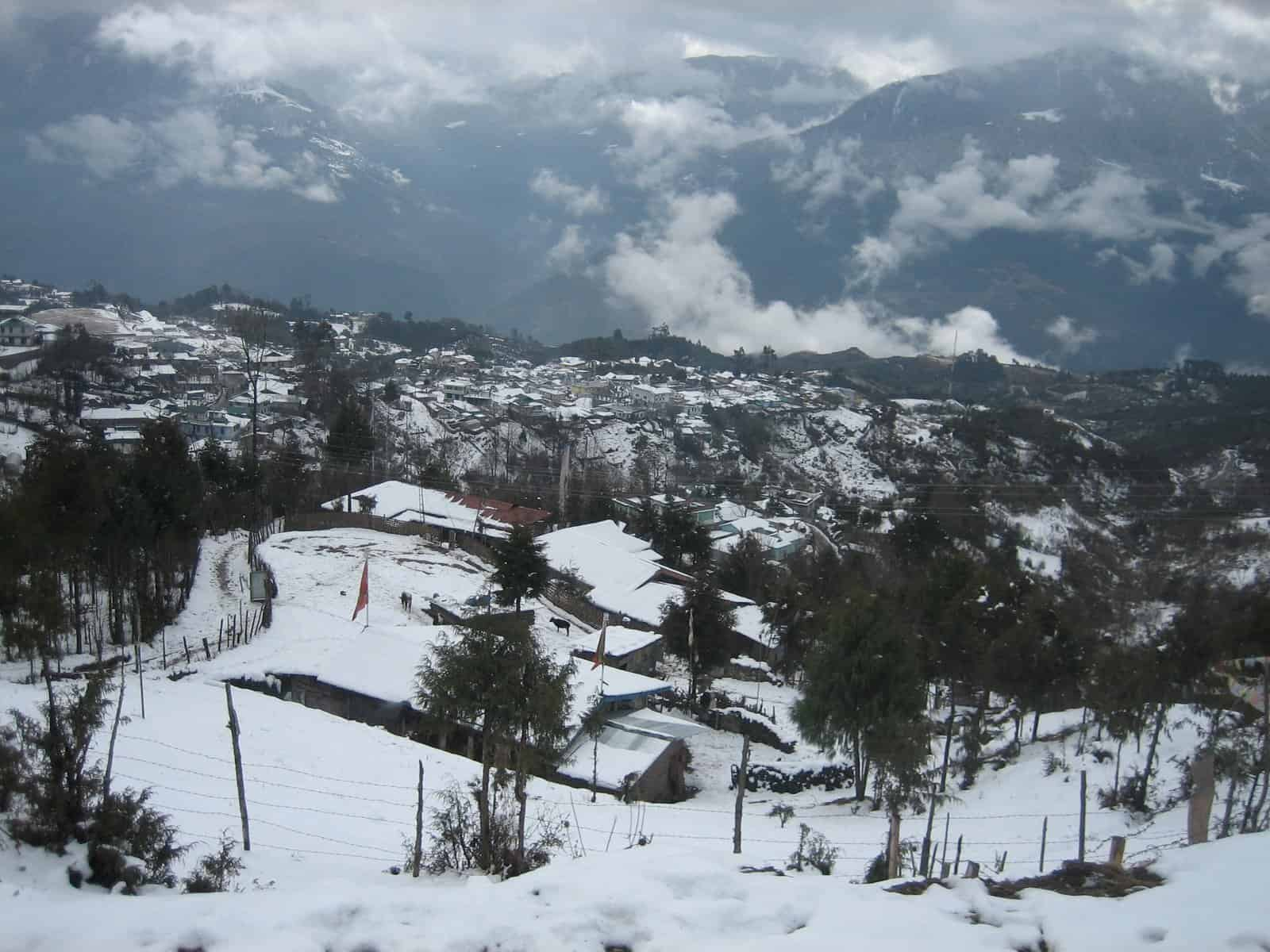 Tawang in winter time.
