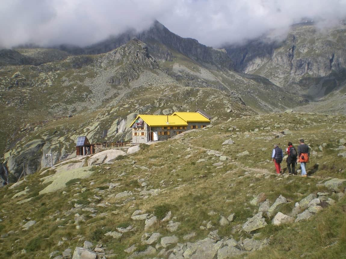 HIking to the Alpine Hut Pontese outside of Turin, Italy.