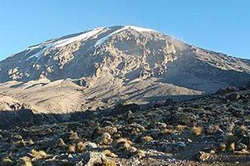 The summit of Mt. Kilimanjaro from Karanga Camp - photos by Roman Skaskiw